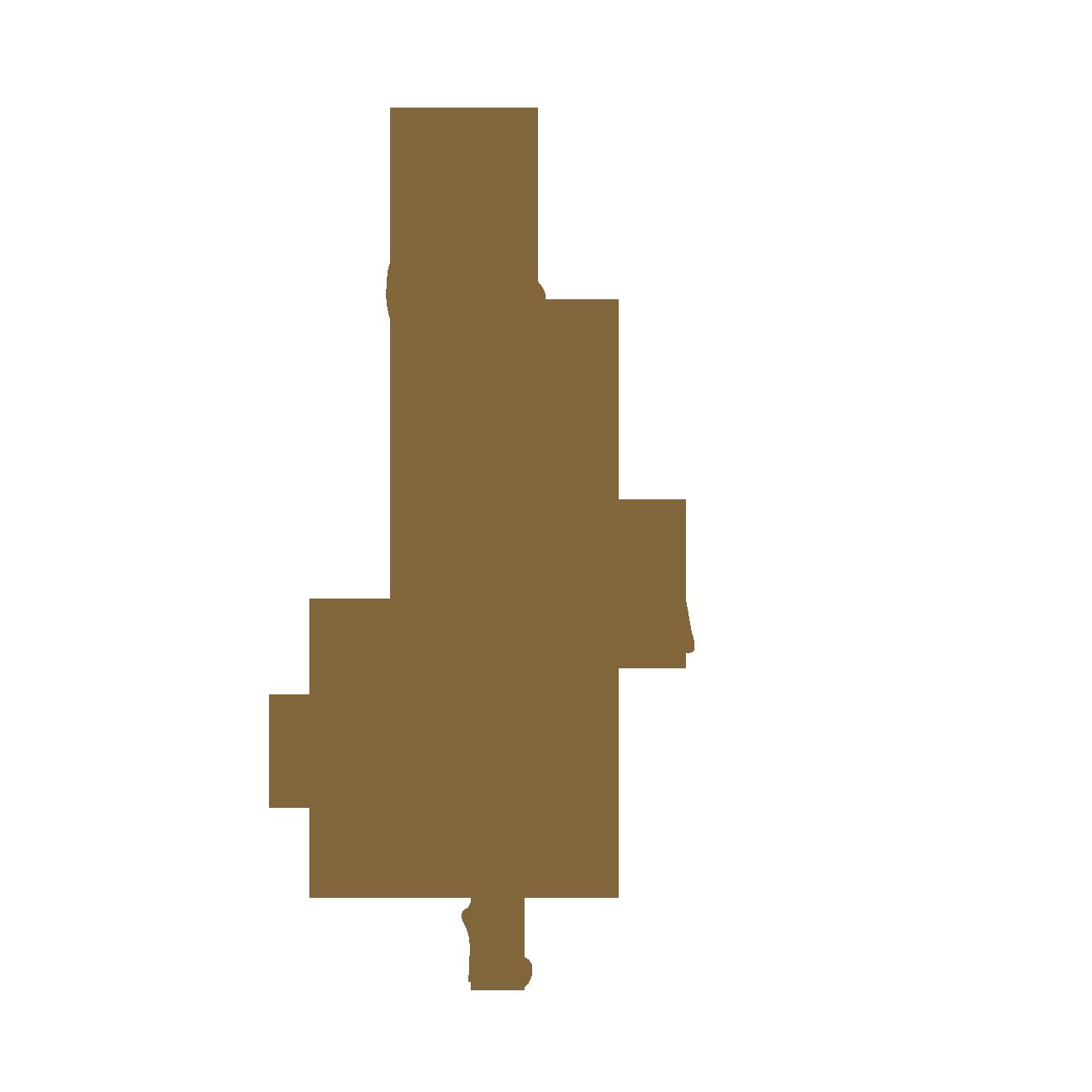バッグを持ったスカートの女性のシルエット