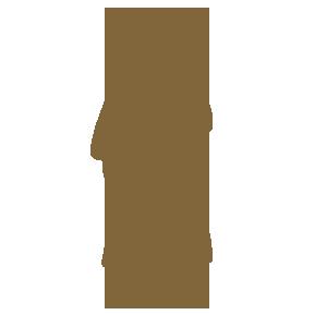 袴姿の男性のシルエット